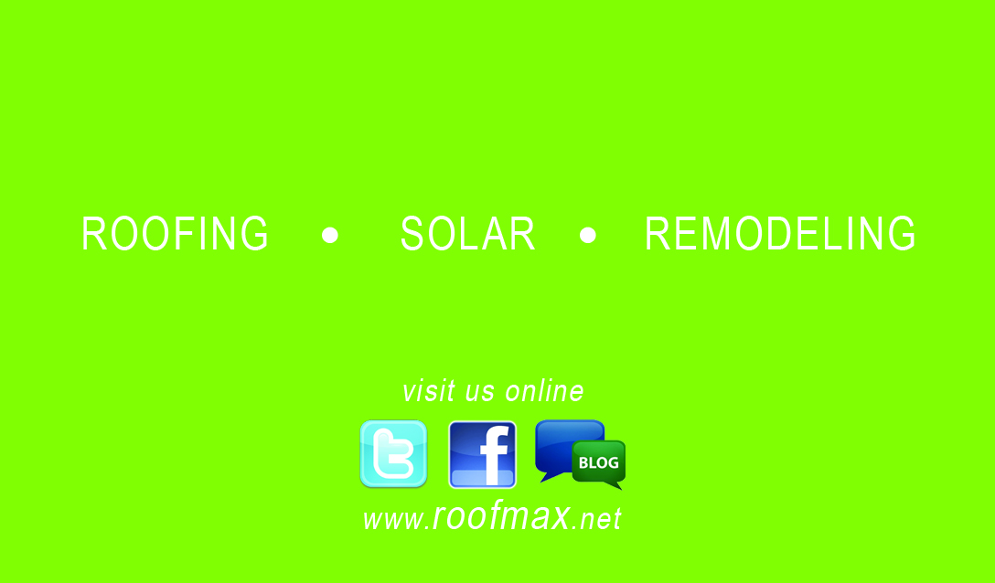 Roofmax Business Card Back