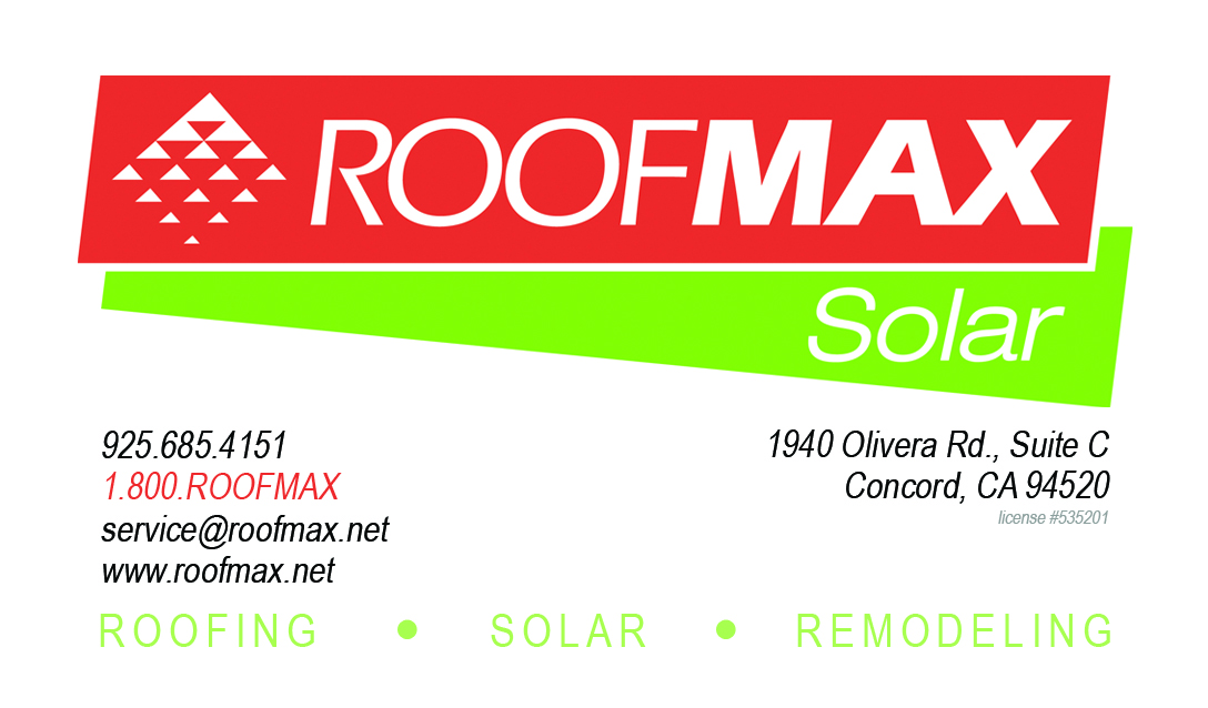 Roofmax Business Card Front
