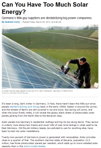 Can You Have Too Much Solar Energy